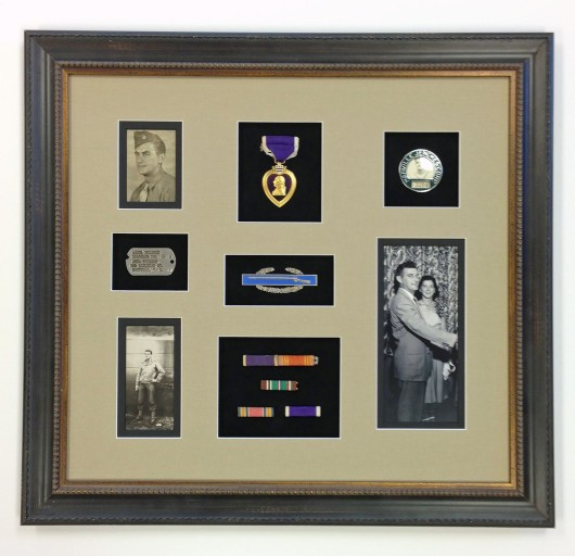 Framed army medals