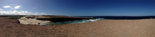 Pano of cliffs